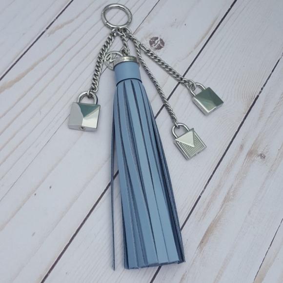 2d77d47336ba Michael Kors Bags | Tassel Lock Key Chain Pale Blue | Poshmark
